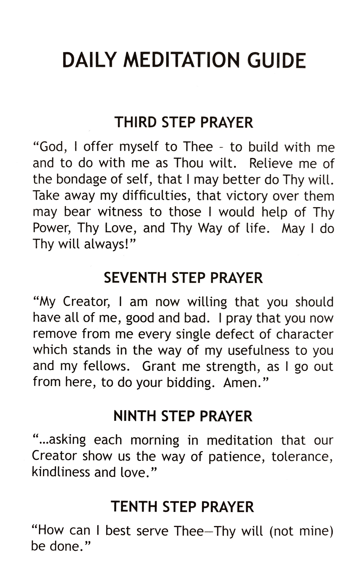 Daily Meditation Guide